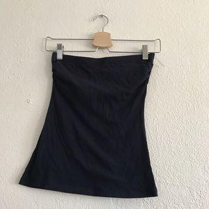 Navy strapless top